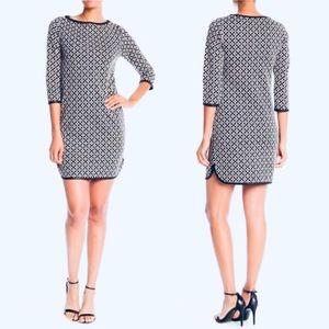 $118 Max Studio Jacquard Floral 3/4 Sleeve Dress